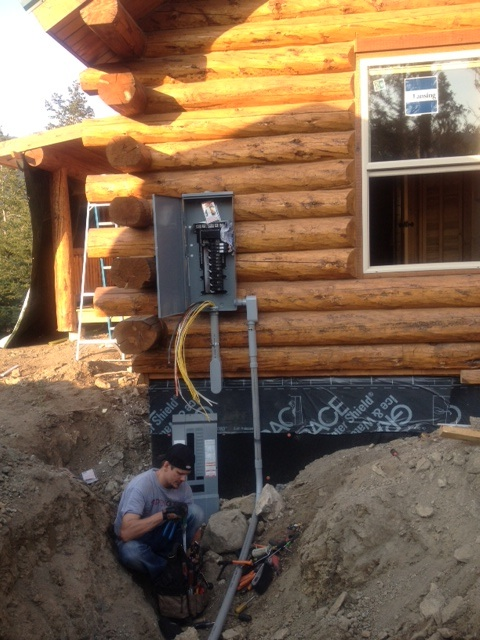 how to get electricity to your mountain cabin rh petersonelectricllc com Cleaning a Log Home wiring a log home with a crawl space